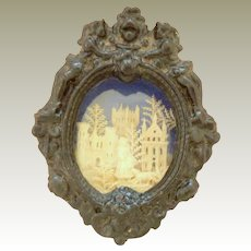 Miniature Glazed Diorama c1880
