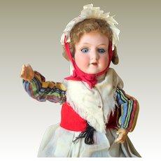 Small Armand Marseille 390 Bisque Head Doll Original Costume c1915