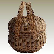 Antique Miniature Basket For Doll c1910