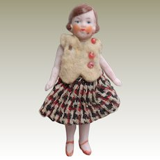 Hertwig Bisque Flapper Dolls house Doll 1920's