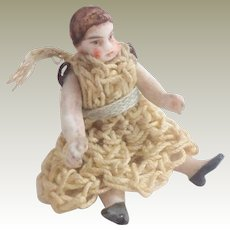 Tiny Carl Horn Doll All Original c1915