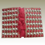 Beaded Punch Paper Needlecase c1860