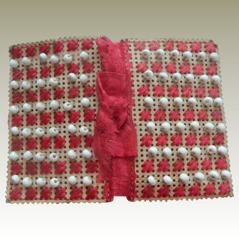 Beaded Punch Paper Needlecase c1860