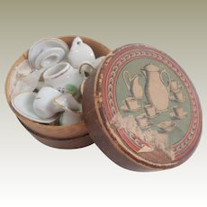 Boxed Floral Pattern Miniature China For Doll House