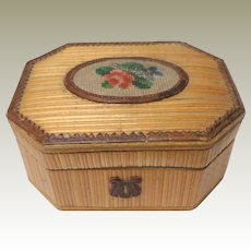 Small Painted Dresden Trim Box c1880