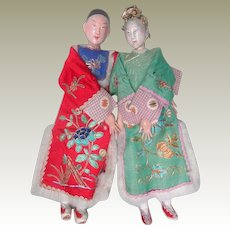 hold for S Pair Chinese Opera Dolls Fantastic Clothing