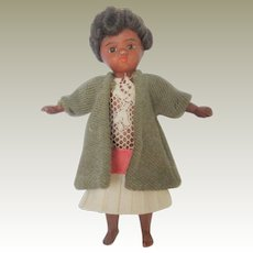Barefoot Mulatto Mignonette All Bisque Doll c1900