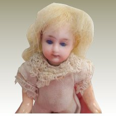 Sweet Bisque Head Dolls House Doll c1915