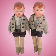 Twin German Art Dolls 1930's