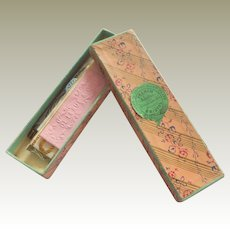Small Oblong Paper Covered Jewellers Box c1860