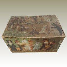 Rare Louis Wain Cat's Card Mazawattee Tea Box c1910
