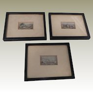 Framed Baxter Needlebox Prints c1860