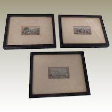 Framed Baxter Needlebox Prints c1860