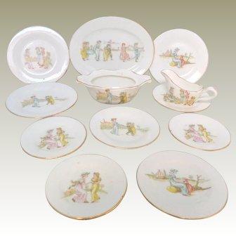 Kate Greenaway Miniature Dinnerwares c1900