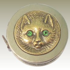 Tiny Cat Faced Tape Meaure c1915