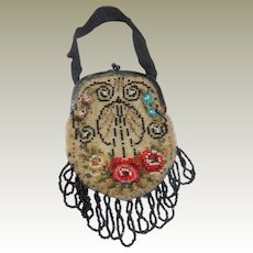 Edwardian Beaded Bag c1915