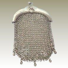 Small Sterling Silver Mesh Purse Hallmarked 1912