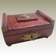 Regency Miniature Sewing Box  All Original c1810
