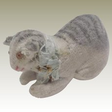 Tiny Theorem Cat Pincushion/Emery c1910
