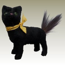 Tiny Old German Putz Black Cat