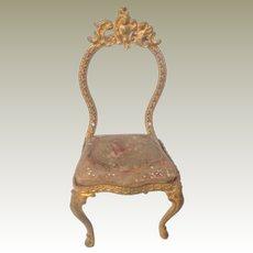 Ormolu Chair For Dolls House c1880