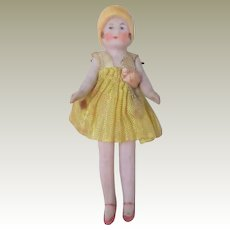 Bonnet Head Bisque Doll c1920