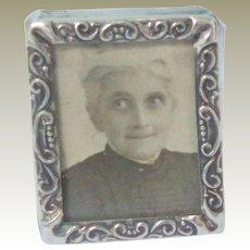 Tiny Antique Silver Photograph Frame HM 1903