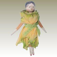 Antique Peg Wooden Cracker Doll c1900