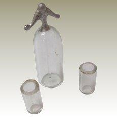 Soda Syphon & Glasses For Dolls House