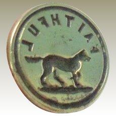 Tiny Chatelaine Dog Seal Faithful c1880
