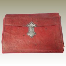 Red Leather Cased 1787 Journal