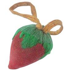 Strawberry Emery Pin Cushion c1880
