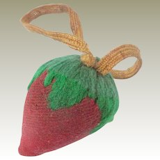 Strawberry Emery Pin Cushion c1880