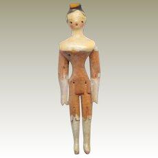 Tuck Comb Grodnertal Wooden Doll c1820