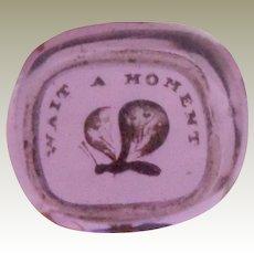 Amethyst 19th Century Glass Intaglio Tassie Seal