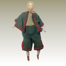 Early Parian Dolls House Doll Fancy Hair Original Clothing