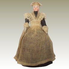 German Bisque Dollhouse Maid Doll Factory Original Clothing c1890