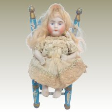 Unusual All Bisque Kestner Seated Doll c1910