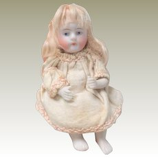 Unusual All Bisque Kestner Seated Doll c1910 A/F