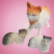 Bisque Cat's German Miniatures c1910