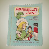 Small Deans Rag book Book Arabella Jane 1930's