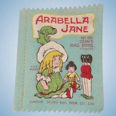 Small Deans Rag book Book Arabella Jane 1930's