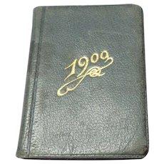 Miniature French Calendar/diary Book 1900