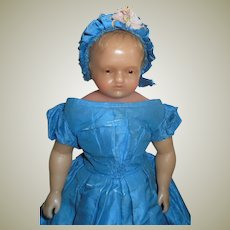 Signed Pierotti Brown Eyed Wax Doll