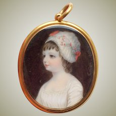 1827 Henry Collen Portrait Miniature Child