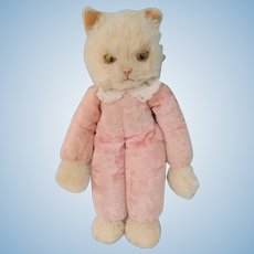 Merrythought Marvellous Cat Slumber Design Early Label