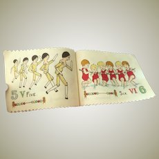 Deans Rag book Book With Golly Teddy Peg Dolls 1930's