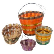 Tiny Horsehair & Foil Woven Baskets