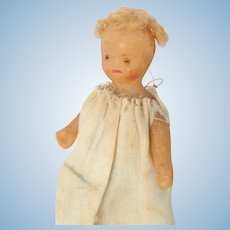 Tiny Antique Beeswax Baby Doll