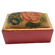 Miniature Theorem Sewing Box c1860
